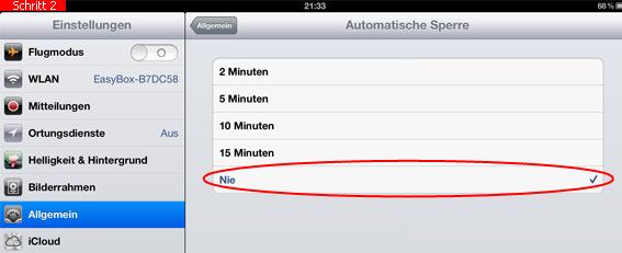 iphone automatische sperre funktioniert nicht mehr