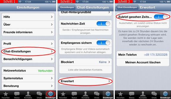 Zuletzt Online Bei Whatsapp Auf Dem Iphone Ausschalten