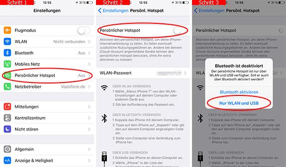 iPhone: Hotspot einrichten - Mobiles Internet teilen