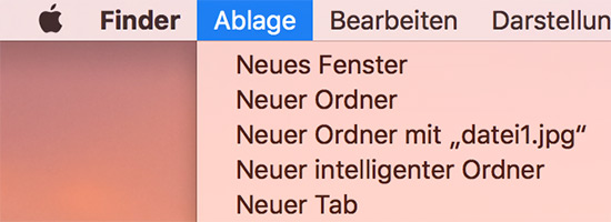 Finder Ablage